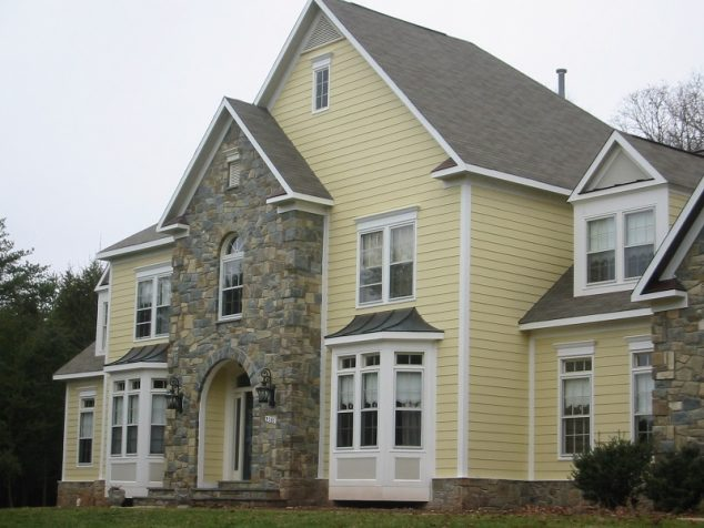 home with fiber cement siding