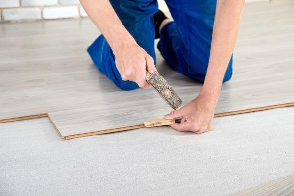 hammering in wood flooring
