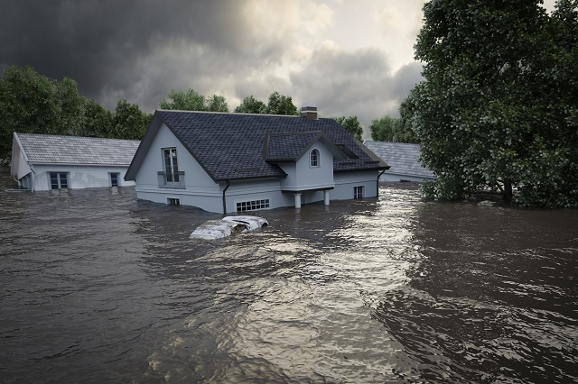 high water flood affecting two story homes
