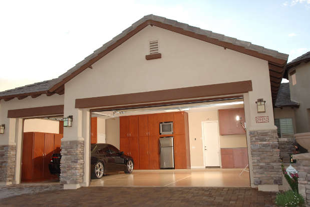 View of Garage and Interior