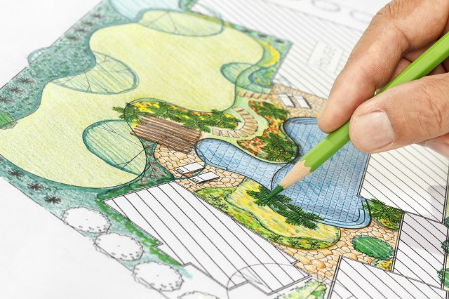 Landscape architect design backyard plan for yard