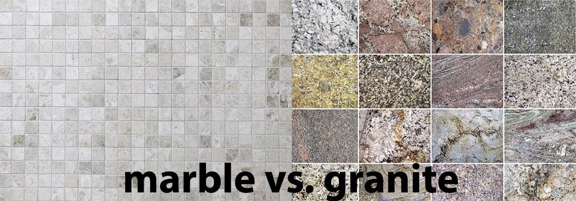 marble vs granite tiles