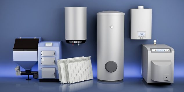 collection of heating system equipment