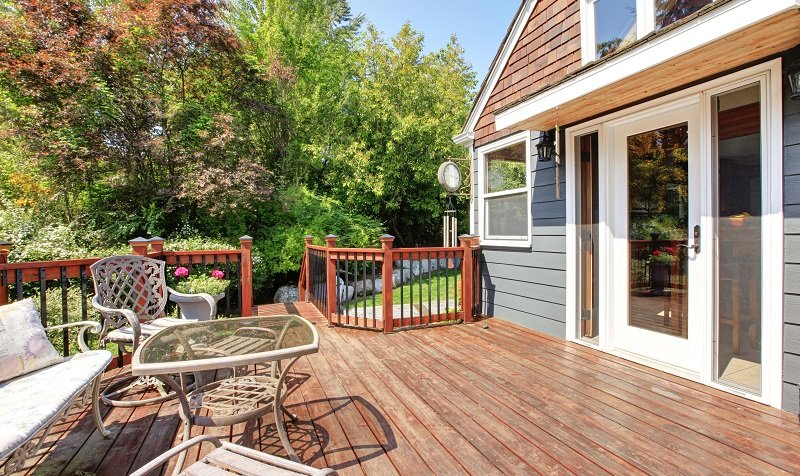 building a large open deck and outdoor furniture.