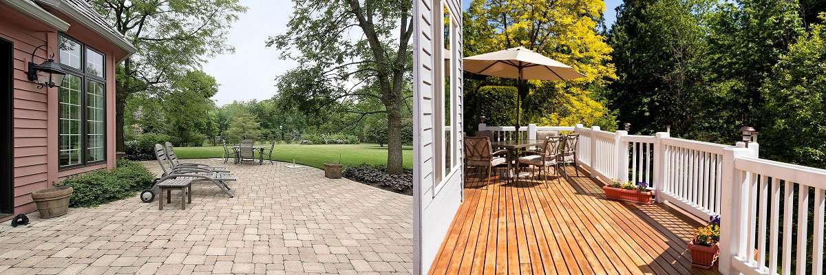 comparing a patio to a deck