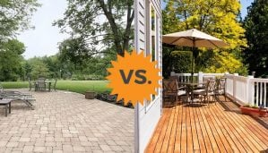 2019 Deck Vs Patio Guide Costs Differences Concrete Or