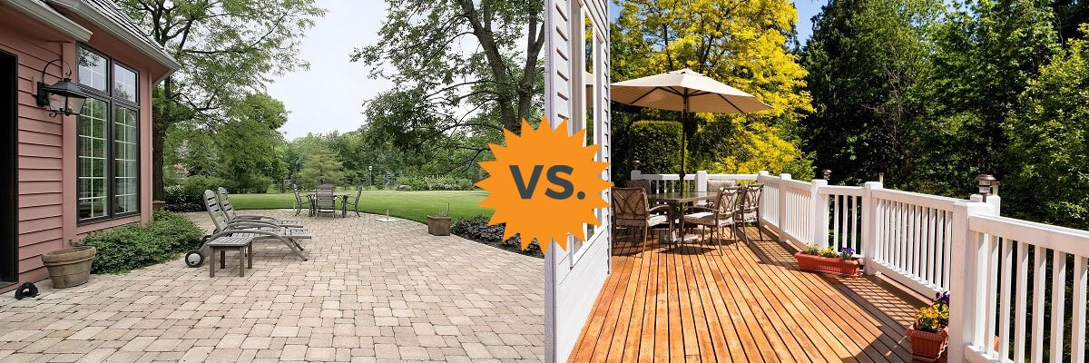 2018 deck vs patio guide costs differences concrete or wood homeadvisor - Deck Vs Patio