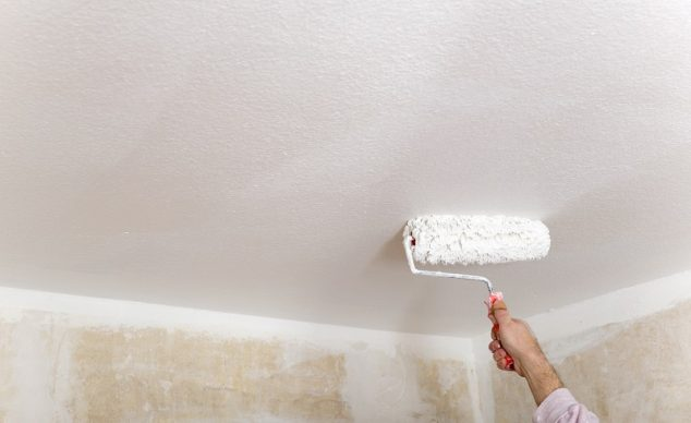 Painting Popcorn Textured Ceilings