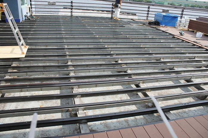 steel framing for a deck