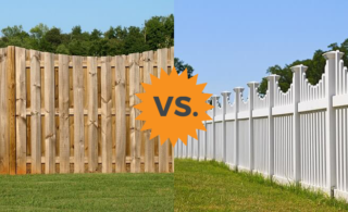 wood and vinyl fencing
