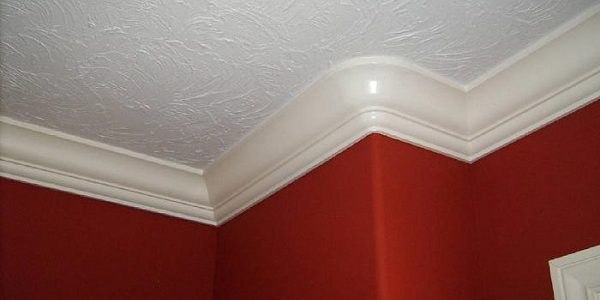 painted white textured ceiling