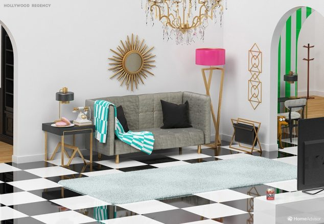 The Simpsons\' Living Room in 6 Interior Design Styles - HomeAdvisor