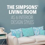 The Simpsons' Living Room in 6 Interior Design Styles