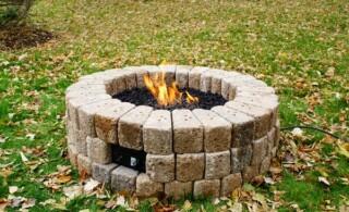 DIY Build a Gas Fire Pit-final product