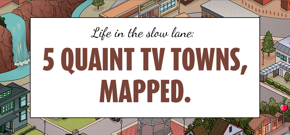 life in the slow lane. tv towns, mapped