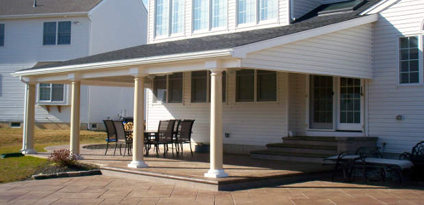 Patio And Patio Enclosure Ideas Roof Options Pavers