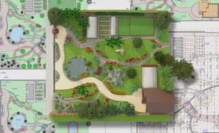 Landscape architect design traditional chinese garden plan.