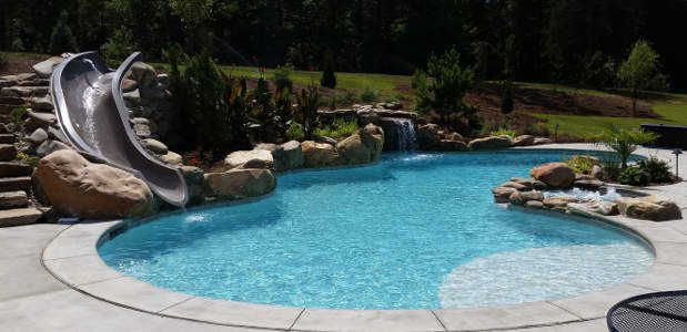 Swimming Pool Slides - prices, types, construction, & installation