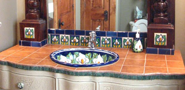 South Of The Border Feel With Talavera Tile Designs