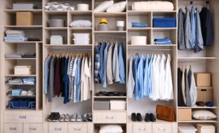 professionally organized closet