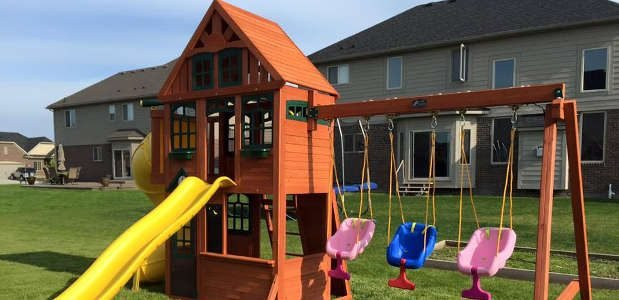 Install A Wooden Swing Set For Hours Of Fun Homeadvisor