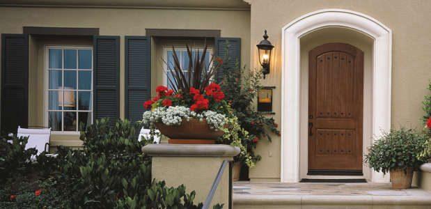 Elegant Wooden Front Door