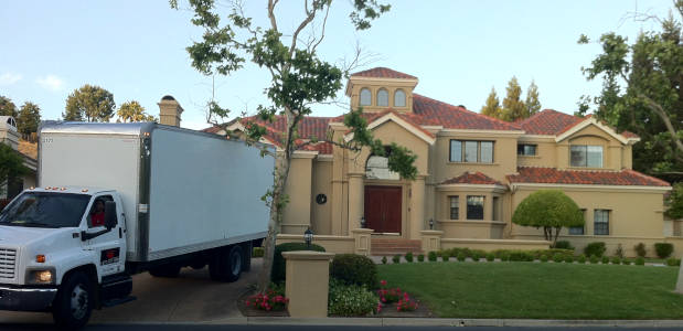 Moving Truck at House