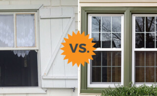 comparison single and double hung windows
