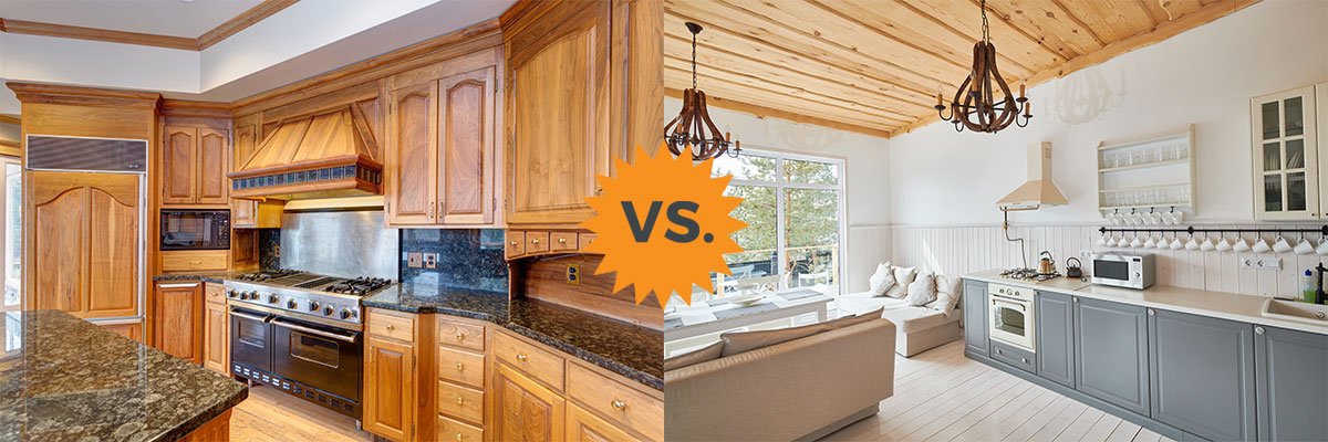 2020 Painted Vs Stained Cabinets Guide For Kitchens