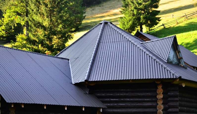 powder coated metal roof
