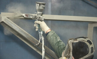 powder coating in a studio