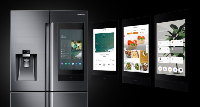Samsung Family Hub presented at CES 2019