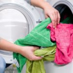 Washing dirty wet clothes