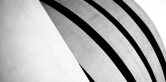 The Guggenheim Museum designed by Frank Lloyd Wright