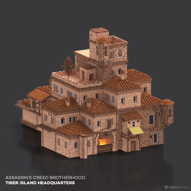 Assassin's Creed Brotherhood Tiber Island Headquarters