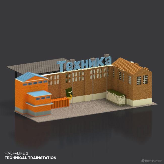 Half Life 2 Technical Trainstation