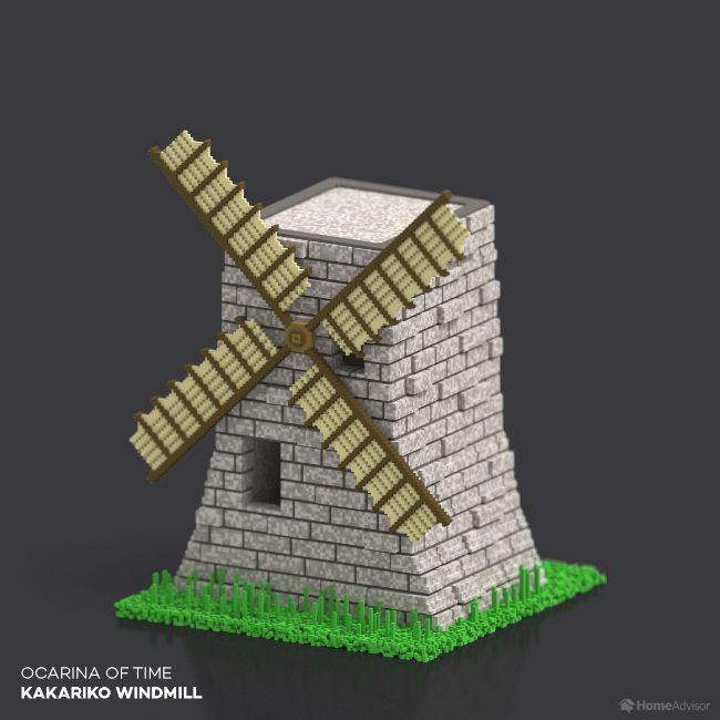 Ocarina Of Time Kakariko Windmill