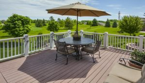 luxury composite decking on house