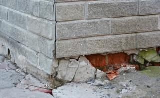 brick and concrete foundation needs repair