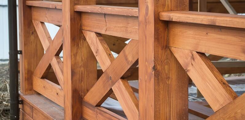 pressure treated pine fence post