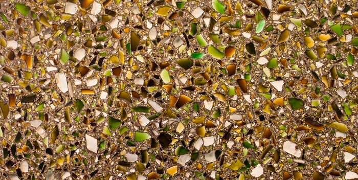 recycled glass for counters