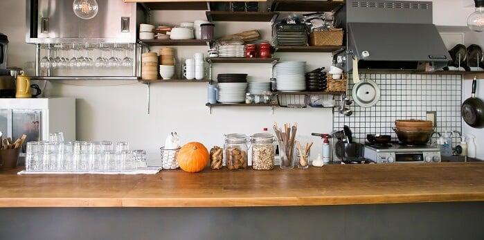 budget wood kitchen counter