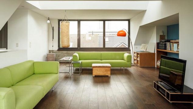 apartment with laminate flooring