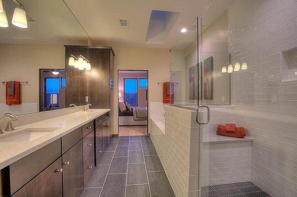 Master Bathroom With Tile Flooring