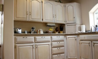 Kitchen cabinets bought and installed for cheap
