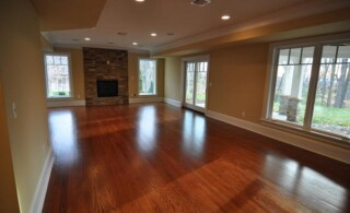 Hardwood flooring with a durable finish