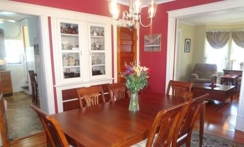 built in china cabinet in dining room wall