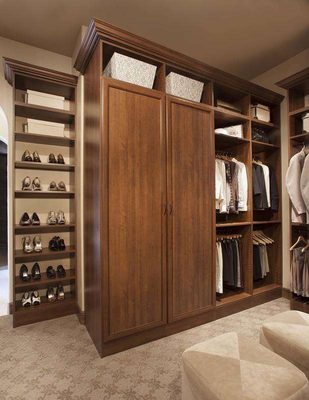 Large wardrobe with doors and hangers