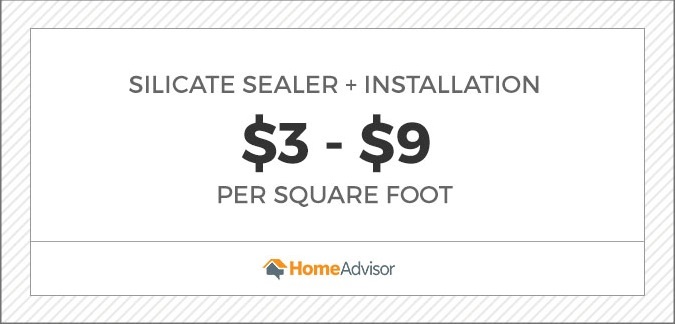 silicate sealer and installation cost $3 to $9 per square foot graphic