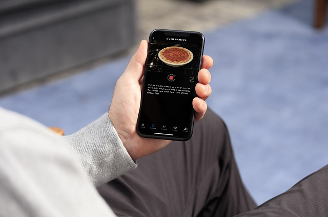 GE Appliances Oven Camera view on smartphone